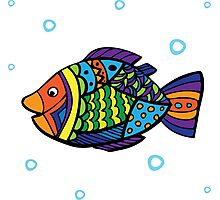 bright colored sea fish Photographic Print
