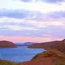 Lake Argyle    [Ord River Dam,]  #1 Evening Glow. by Virginia McGowan
