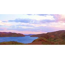 Lake Argyle    [Ord River Dam,]  #1 Evening Glow. Photographic Print