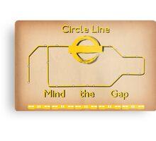Circle Line Metal Print