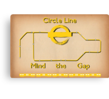 Circle Line Canvas Print
