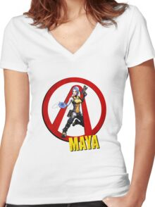 Maya Women's Fitted V-Neck T-Shirt