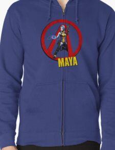 Maya Zipped Hoodie