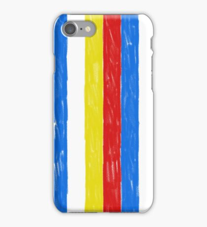 Primary Color Crayon Stripes iPhone Case/Skin