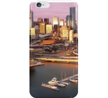 Melbourne city and Docklands at sunset iPhone Case/Skin