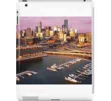 Melbourne city and Docklands at sunset iPad Case/Skin