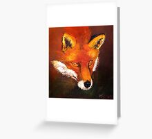 The Crafty Fox  Greeting Card