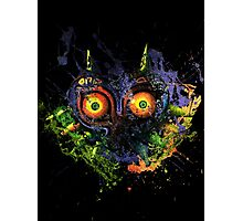 Majora's Mask Paint Splatter Photographic Print
