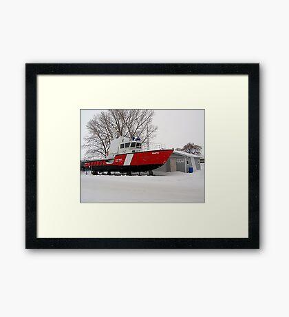 snowed in coast guard Framed Print