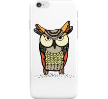 color ethnic owl with graphic elements iPhone Case/Skin