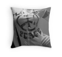 peace out, baby !  Throw Pillow