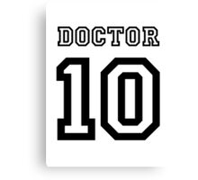 Doctor 10 Jersey Canvas Print