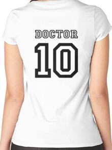 Doctor 10 Jersey Women's Fitted Scoop T-Shirt