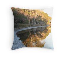 riverside reflections Throw Pillow