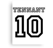 Tennant 10 Jersey Canvas Print
