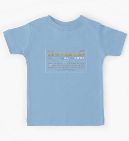 Sacred Shirt of Training (Legendary) Kids Tee