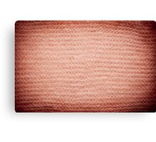 Sepia fuzzy knitted fabric texture Canvas Print
