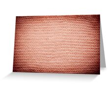 Sepia fuzzy knitted fabric texture Greeting Card