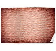 Sepia fuzzy knitted fabric texture Poster