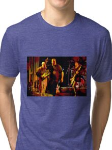 Rock Band on Stage. Tri-blend T-Shirt