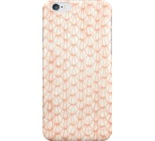 Sepia fluffy knitted fabric texture iPhone Case/Skin