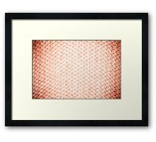 Sepia fluffy knitted fabric texture Framed Print