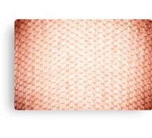 Sepia fluffy knitted fabric texture Canvas Print