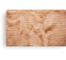 Beige fluffy knitted fabric texture  Canvas Print
