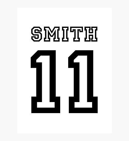 Smith 11 Jersey Photographic Print