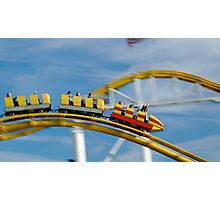 Santa Monica Roller Coaster Photographic Print