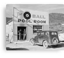 The Eight Ball Pool Room, 1940 Canvas Print