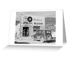 The Eight Ball Pool Room, 1940 Greeting Card