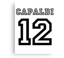 Capaldi 12 Jersey Canvas Print