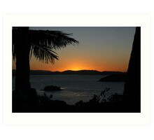 Hamilton Island Sunset in July Art Print