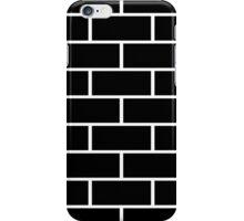 Brick Wall - Black Flat iPhone Case/Skin