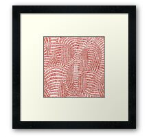 Seamless hand drawn abstract vector pattern Framed Print