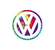 Tie Dye Volkswagen by beeweecee