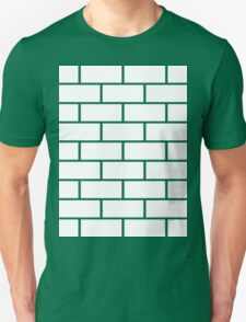 Brick Wall - White Unisex T-Shirt