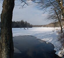 Ice Fishing on Barber's Pond. by Jack McCabe