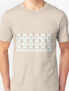 Beige and blue luxury ornamental pattern Unisex T-Shirt