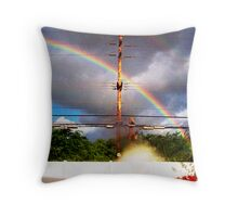 Energetic Explosion Throw Pillow