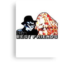 Best Friends - Eatin' Pizza Metal Print