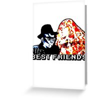 Best Friends - Eatin' Pizza Greeting Card