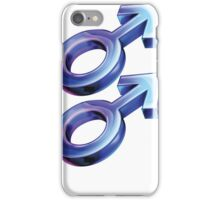 Male to Male Sex Symbol iPhone Case/Skin