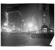 Broadway at Night, 1910 Poster