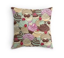 I Love You Cupcakes Throw Pillow