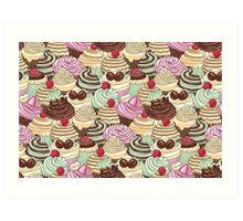 I Love You Cupcakes Art Print