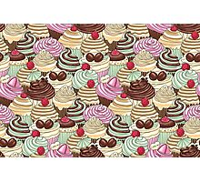 I Love You Cupcakes Photographic Print