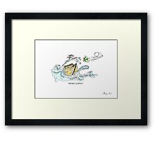 SURF FOR GOD Framed Print