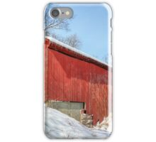 Oakalla Covered Bridge and Snow iPhone Case/Skin